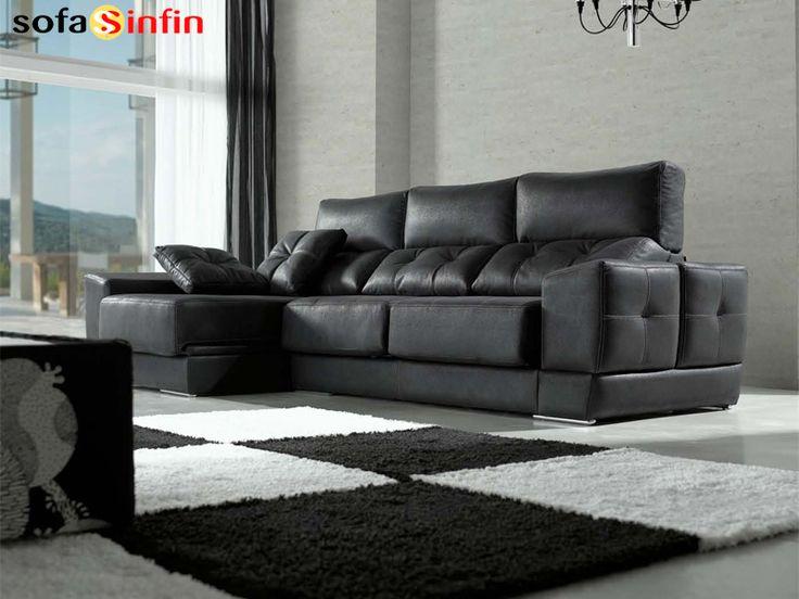 Sofá con chaise-longue Acomodel modelo Danco en Sofassinfin.es