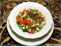 シラーズ サラダ イラン・アラブ料理「アラジン|Aladdin」