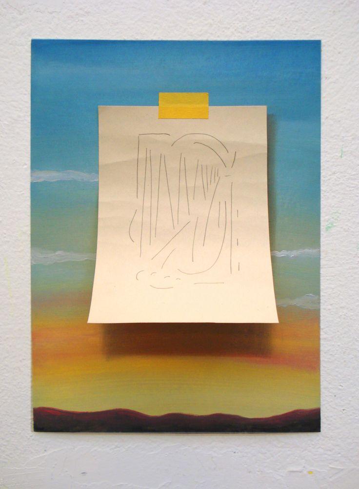 Juan Reos - Paisaje y dibujo - oleo s tela y grafito s papel - 21x19 - 2015