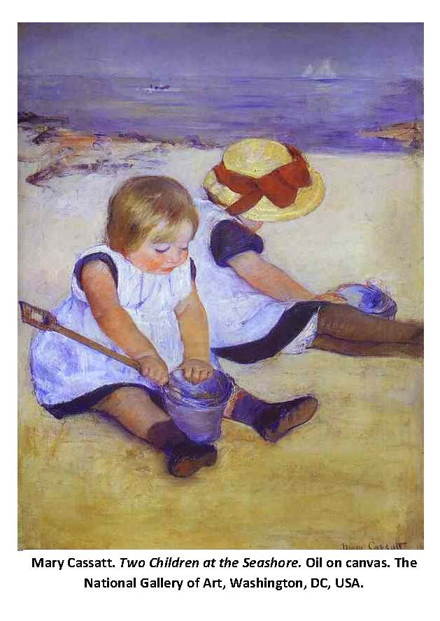 Mary Cassatt , δύο κορίτσια στην παραλία .