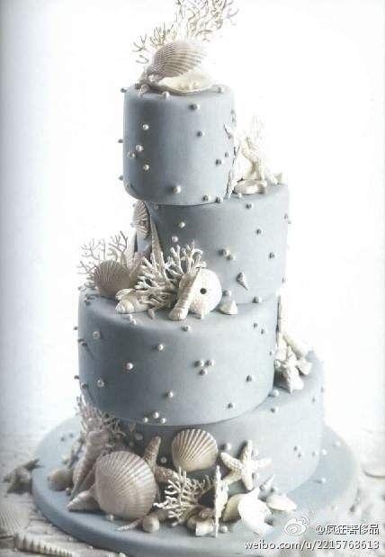#timelesstreasure ~ Beach Themed Tiered Cake ~