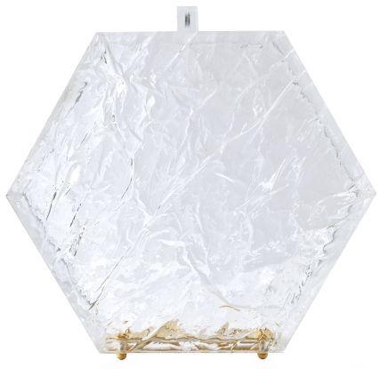 прозрачный клатч на цепочке
