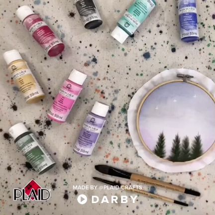 Watercolor Painting with Seasonal Trees in Summer – Celebrate all four seasons of the year with watercolor trees. Click for full tutorial #darbysmart #diy #diyprojects #diyideas #diycrafts #easydiy #artsandcrafts #watercolors #watercolorpaint ,  ML