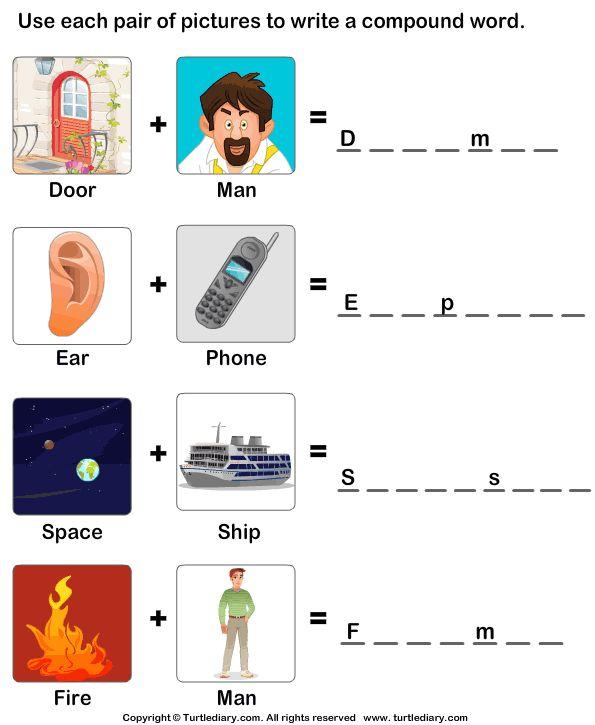 Compound words worksheet ks1