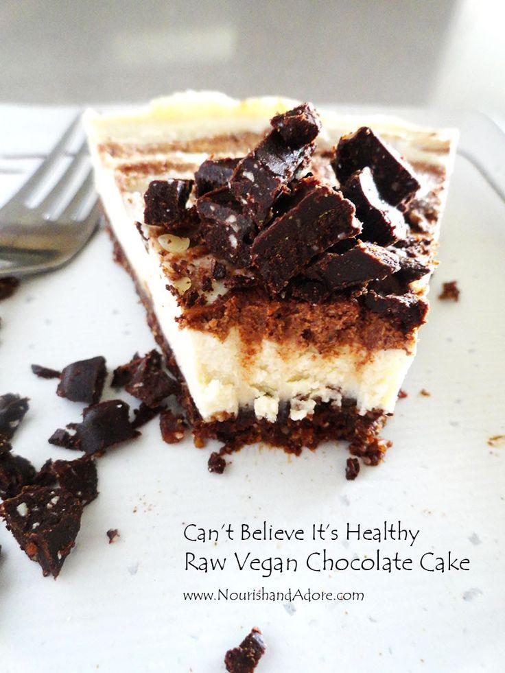 No bake vegan gluten free white chocolate (non dairy) cheese cake  by Jayde Hwang www.nourishandadore.com