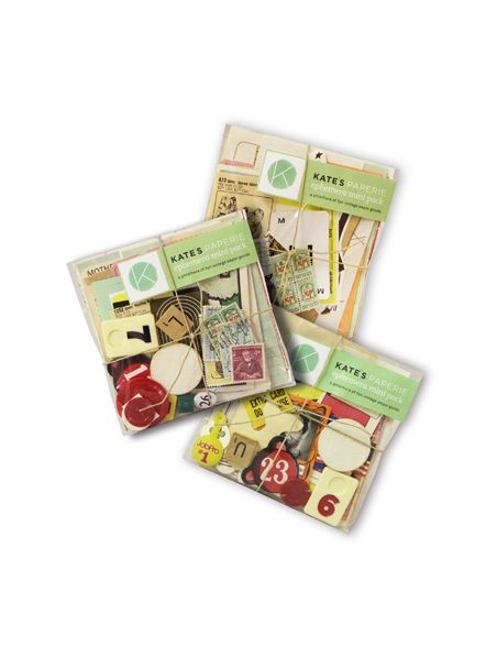 In our exclusive ephemera mini packs you will find a plethora of fun vintage paper goods. While each bag is unique, the contents carry a similar variety of items, including old game pieces, ticket stubs, stamps, illustrations, cards and more. Have fun exploring your bag and creating your own artwork and cards.