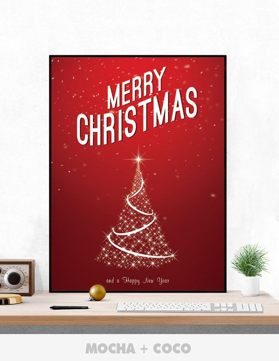 Christmas Tree Poster PR0058 These digital downloads are the perfect addition to your home decoration. You will receive JPEG files of this artwork.