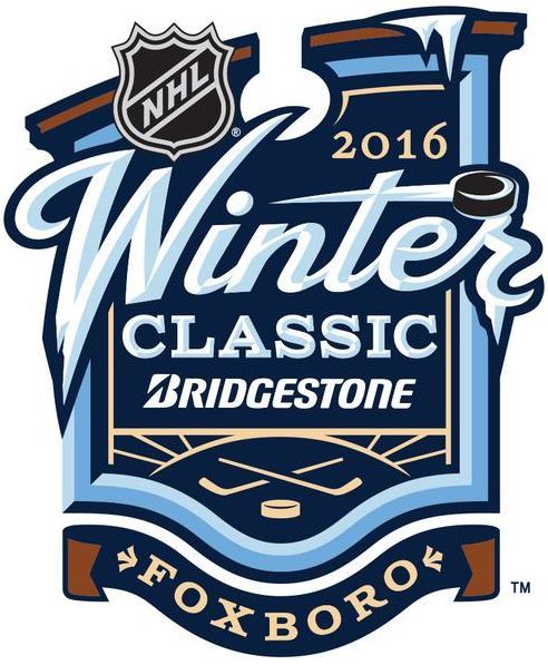 NHL Winter Classic Primary Logo (2016) - 2016 NHL Winter Classic at Gillette Stadium in Foxborough, Massachusetts