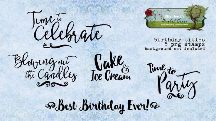 Birthday Titles Word Art
