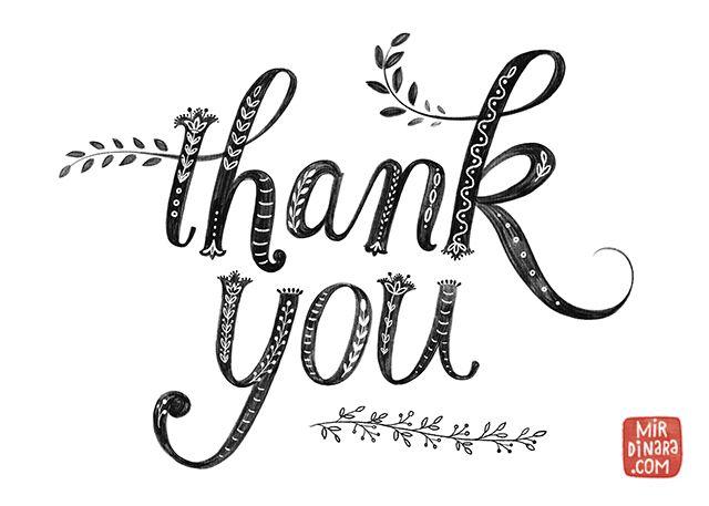 Thank You By Dinara Kelly Burke