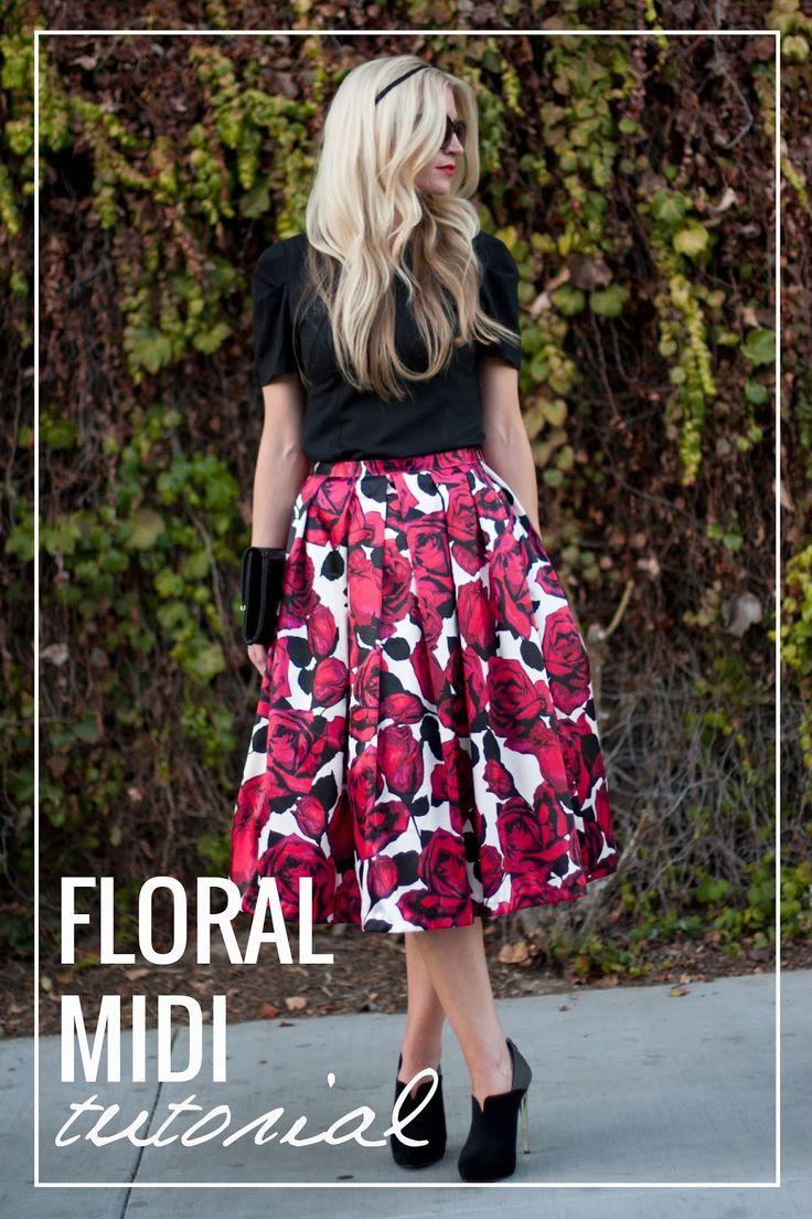 Floral Midi Skirt Tutorial