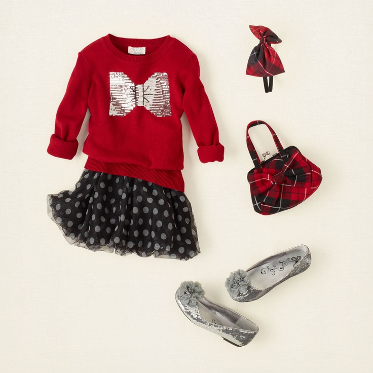girl - outfits - plaid tidings - bow above | Children's Clothing | Kids Clothes | The Children's Place