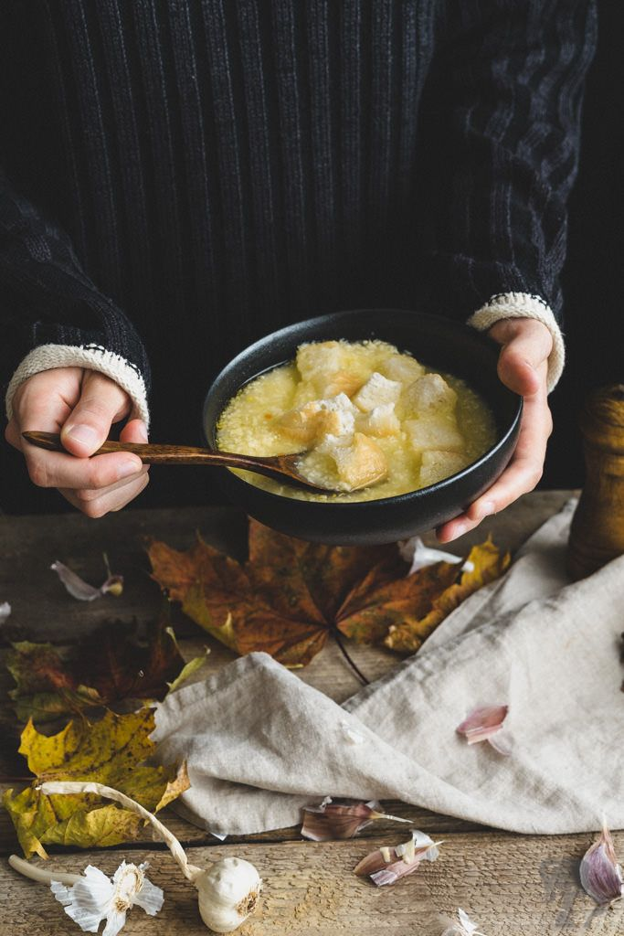 Rýchla cesnačka / Quick garlic soup