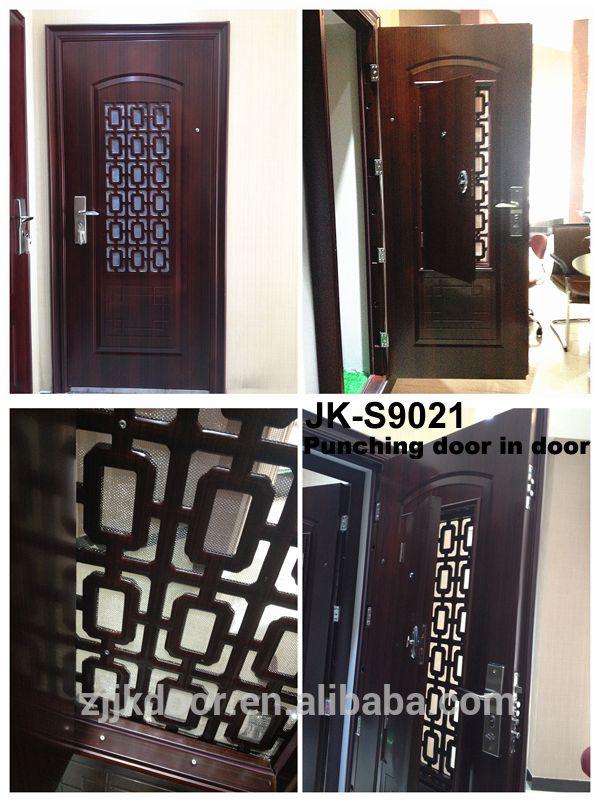 Jie Kai S9019 modernos modelos de portas de metal/ferro forjado portas dianteiras/guarita de segurança portas