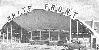 1970s   White Front discount supermarket store, 4150 North Blackstone Avenue, Fresno, California USA