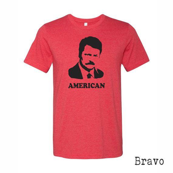 Ron Swanson Shirt. Parks and Rec Shirt. Ron by bravocustomprinting