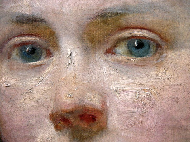 "detail of ""Portrait of Victorine Meurent"" by Edouard Manet. Oil on canvas, 54 x 40,3 cm."