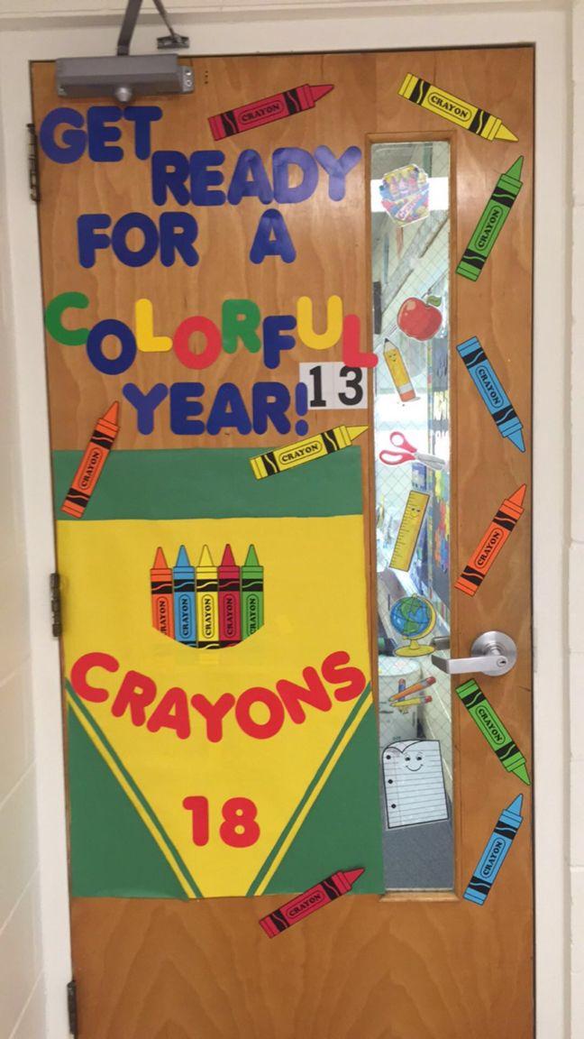 Love my door decoration!!! Get ready for a colorful year! Second grade door. Crayon door. Back to school door decoration. Crayon Bulletin Board.