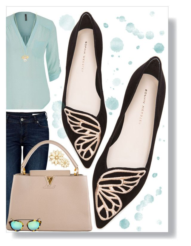 """""""#12"""" by alzbeta-zlochova ❤ liked on Polyvore featuring Sophia Webster, Anine Bing, maurices, Louis Vuitton and Forever 21"""