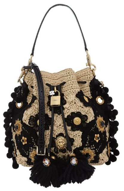 Dolce & Gabbana Printed Claudia Bucket Bag