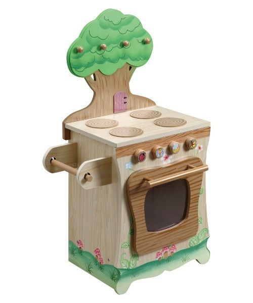 Teamson Kids Enchanted Forest Kitchen Stove - Turning kids into gourmands, one play kitchen at a time, the Teamson Design Stove - Enchanted Forest Kitchen Collection helps them bake everything...