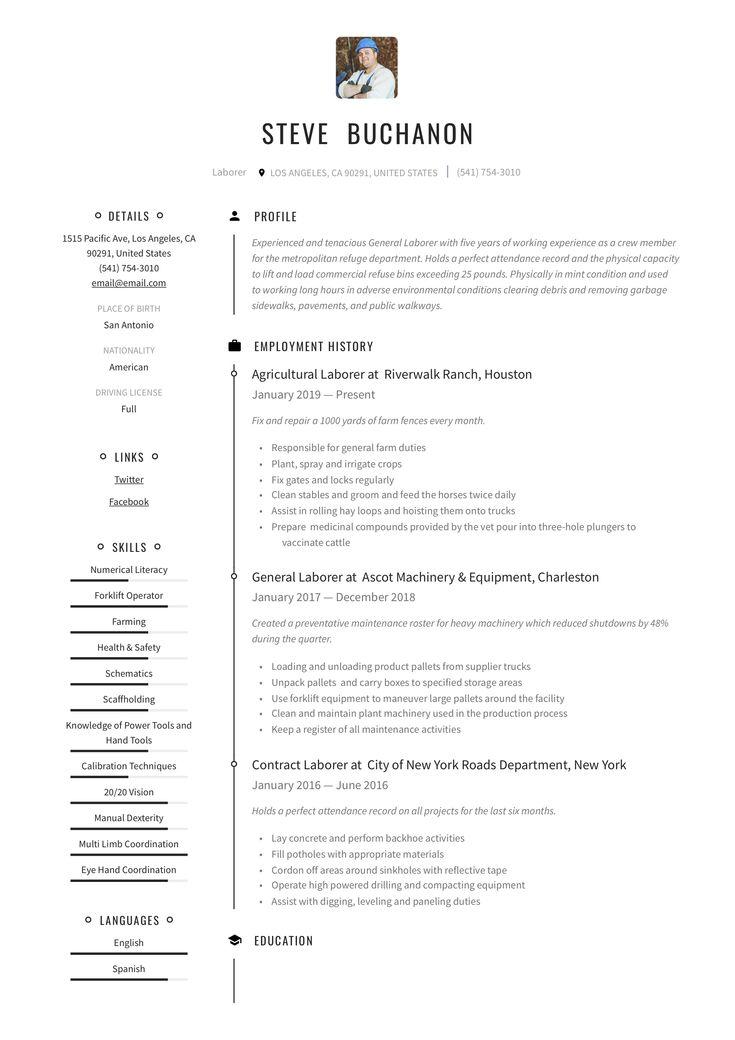 General laborer resume writing guide in 2020 resume