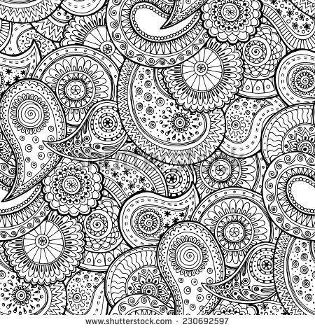 Seamless floral retro background
