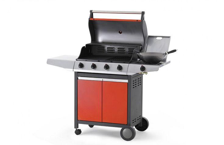 Arcobelle BBQ 4 Burner BBQ with Side Burner on Cart G4ARCM 4