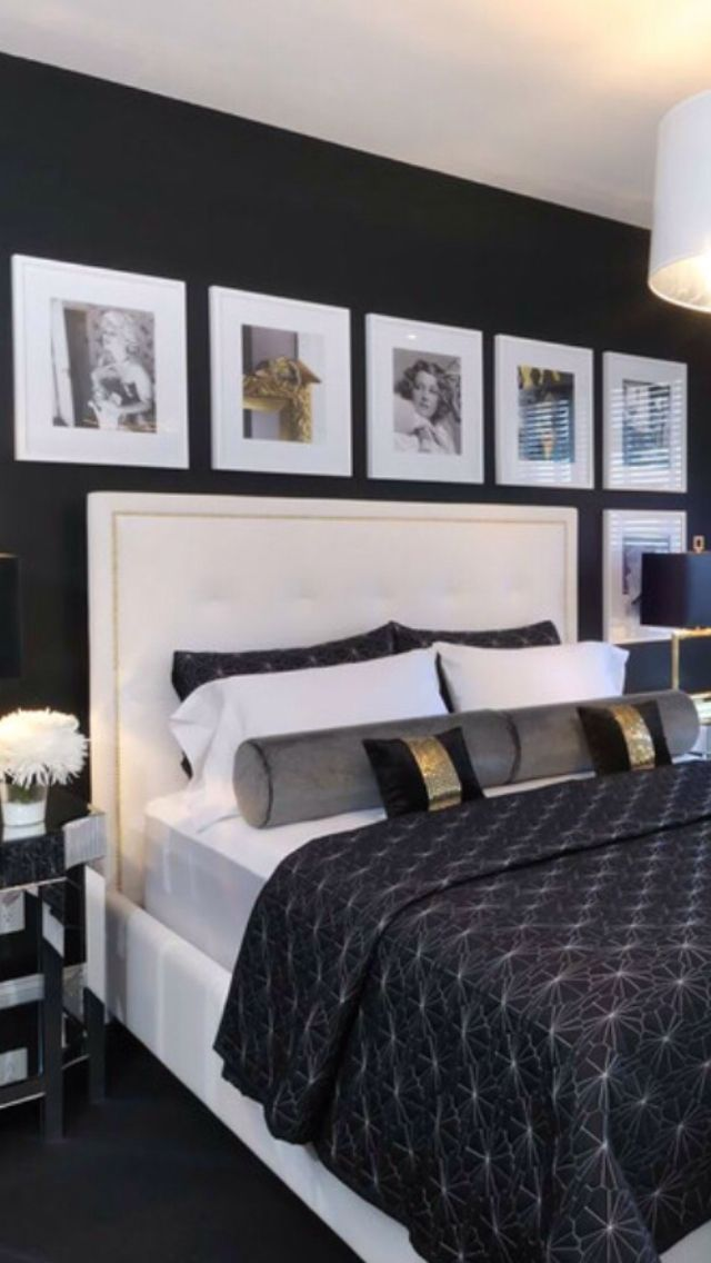 192 best images about black gold white interiors on pinterest ralph lauren black gold and - Black luxury bedrooms ...