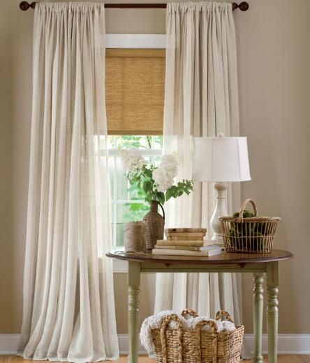 Sheer Linen Rod Pocket Curtains - Pair Was: $79.95 - $99.95                         Now: $63.96 - $79.96