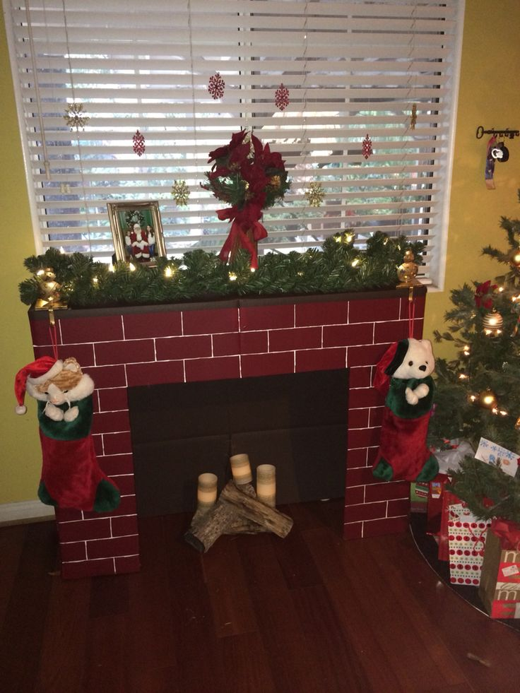 Fireplace Design cardboard christmas fireplace : 226 best images about 1 fireplace on Pinterest