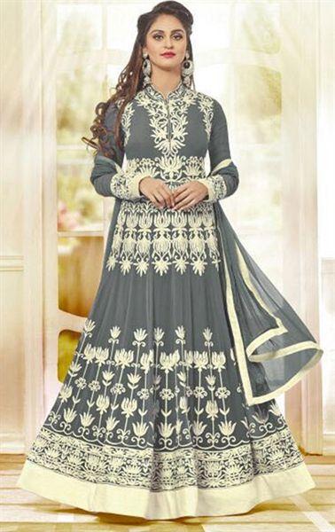 Picture of Ravishing Gray Designer Salwar Suit