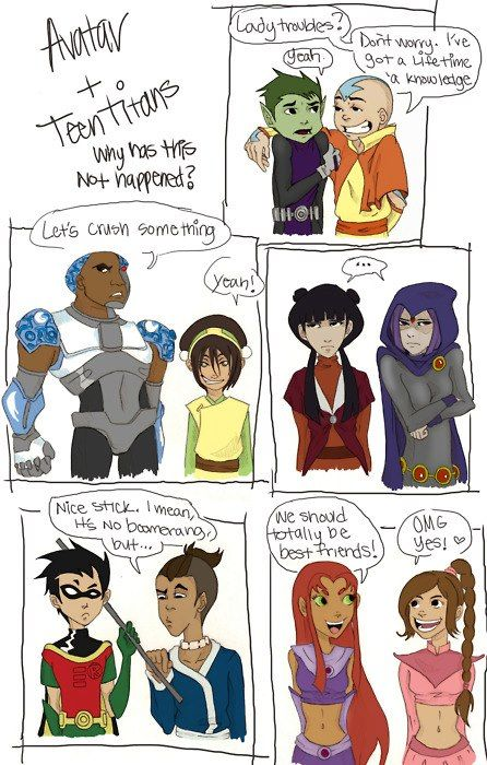 Avatar Meets Teen Titans