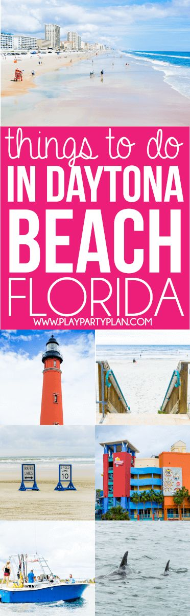 Adding these 16 fun Daytona Beach Florida things to do with kids and on family vacations to our travel bucket lists! Definitely one of our favorite road trips from Orlando. Start with great restaurants, check out the free boardwalk, and use the other Daytona Beach Florida ideas for one awesome summer getaway.  via @playpartyplan