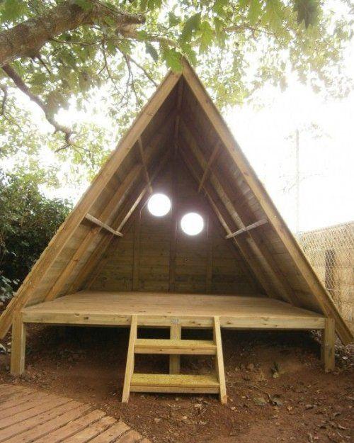 Детский домик из необрезной деревянной доски. | Столярный блог.