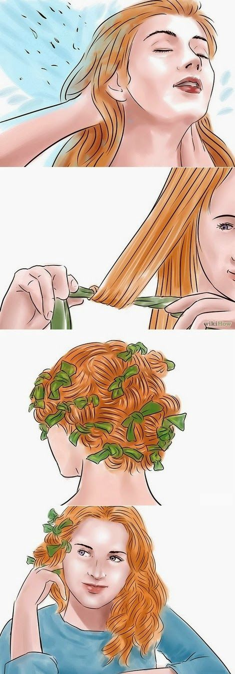 How to: HEATLESS rag curls for long hair         1. Wash and condition your hair.  Don't overcondition, since this will make your curls more...