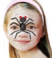 Maquillage d'araignée sur sa toile