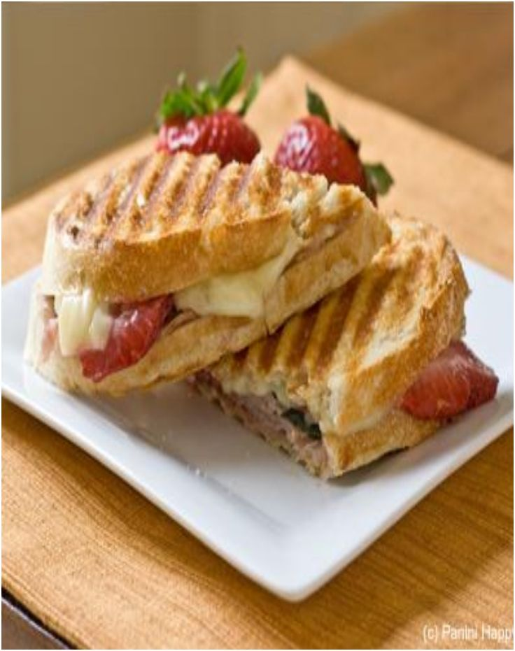 Turkey, strawberries and brie panini | RECIPES: Sandwiches | Pinterest