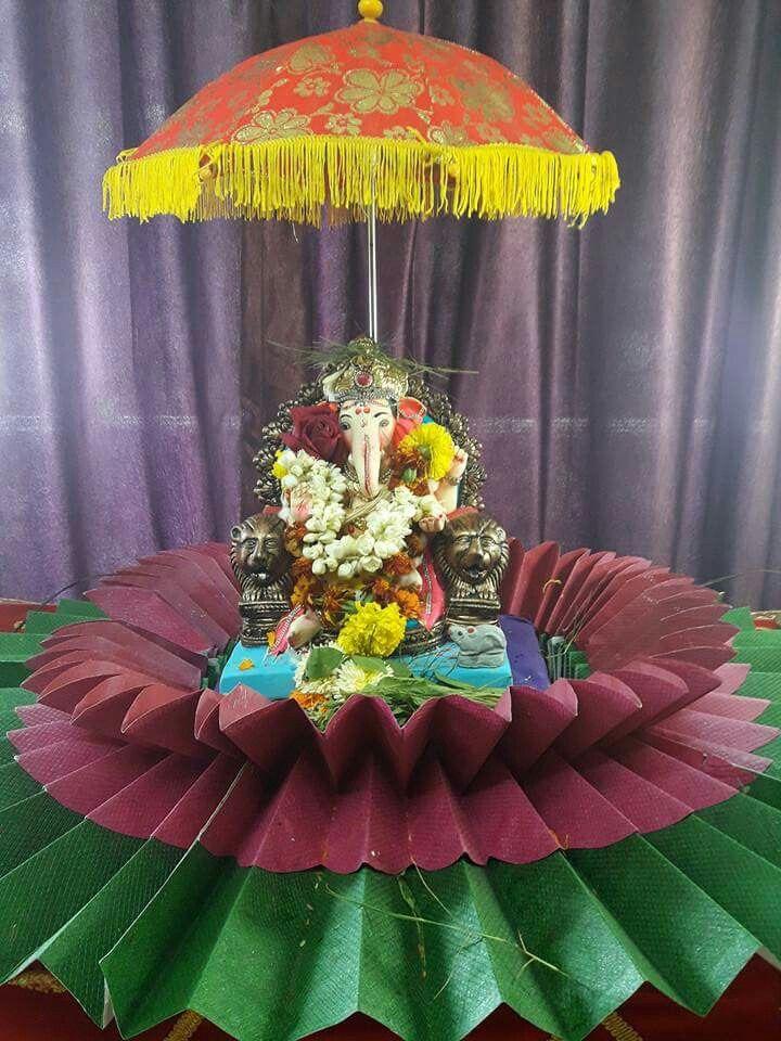 Ganapati Decoration 56 best Foam flowersMy creations