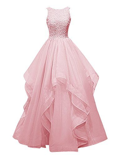 Dresstells® Long Prom Dress Asymmetric Bridesmaid Dress Beaded Organza Gown Dresstells http://www.amazon.co.uk/dp/B018G580KM/ref=cm_sw_r_pi_dp_Hw0Ewb1BQDH0X
