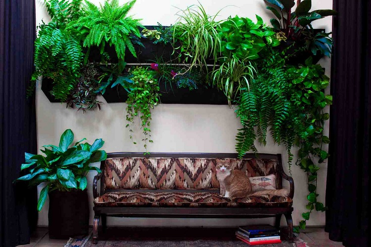 Woolly Pockets_Wallys. Flexible pockets for vertical planting indoors or out. Different sizes and shapes.