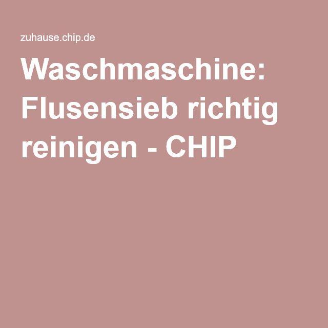 Waschmaschine: Flusensieb richtig reinigen - CHIP