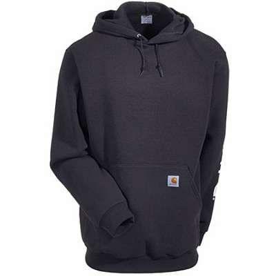 Carhartt K288 BLK Black Midweight Logo Sleeve Hooded Sweatshirt is just what he needs this holiday season! #Carhartt #workingperson #brandsthatwork #hoody #giftsforhim https://workingperson.com/carhartt-mens-k288-blk-black-midweight-pullover-hooded-sweatshirt.html?utm_medium=social&utm_source=Pinterest K288