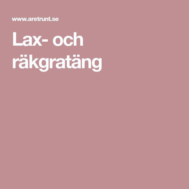Lax- och räkgratäng