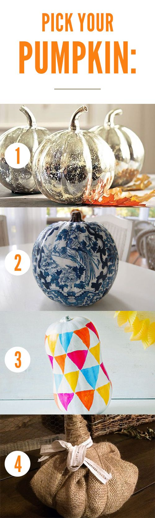 Pick Your Pumpkin and Get Tons of Halloween Decorating Ideas that Match Your Style