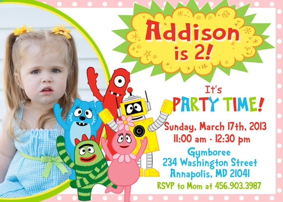 311 best yo gabba gabba party images on pinterest | yo gabba gabba, Birthday invitations