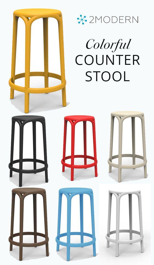 Brooklyn Stool Set Of 4 Colorful Stools Kitchen Decor Modern Stool