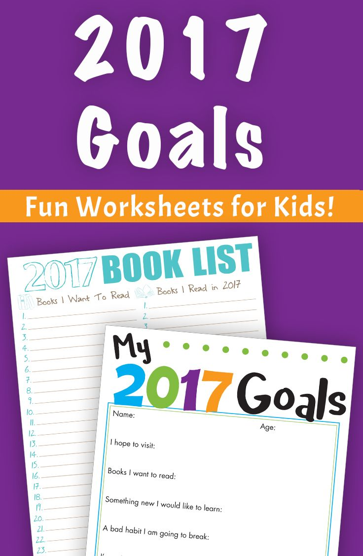 2017 Goals and Reading Worksheets for Kids! | Silver Dolphin Books