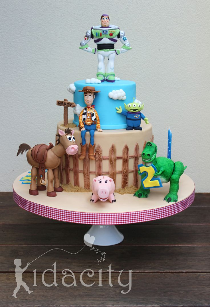 Birthday Cakes - Lots of love and a steep learning curve for this Toy Story cake. My first standing animals on 4 legs and hind legs!! All figures are gumpaste and are handcrafted with details painted on.   The clouds are Royal Bakery clouds and I have to say her tutorial is amazing. Thanks so much Lesley and thanks for being my wonderful cheersquad on this cake.
