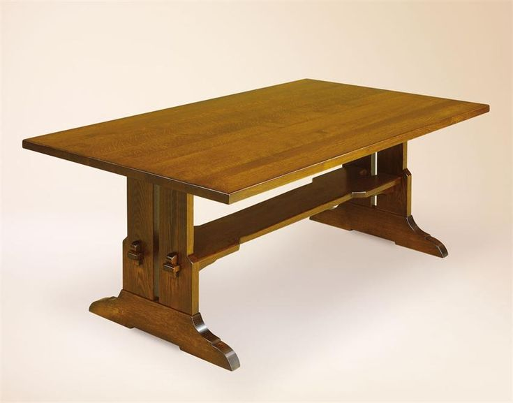 Amish Fraser Mission Trestle Solid Plank Top Table Trestle Table Amish And Ps